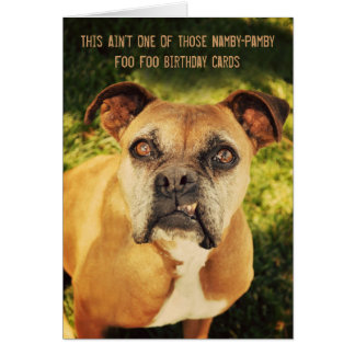 Snarling Boxer Card