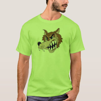 snarling brown wolf face - Customized T-Shirt