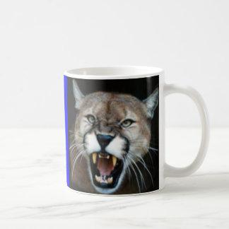 Snarling Cougar, seated cougar Coffee Mug