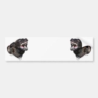 Snarling Dutch Shepherd Police Dog bumpersticker Bumper Sticker