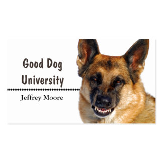 Snarling German Shepherd Business Cards