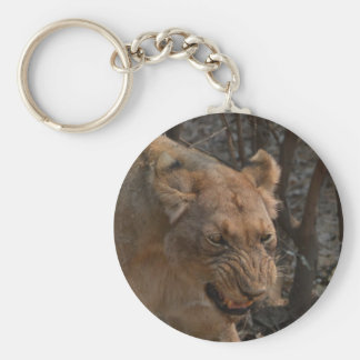 Snarling Lioness Keychain