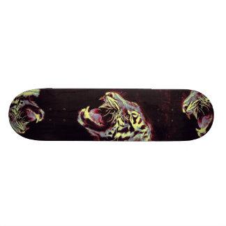 snarling tiger skateboard
