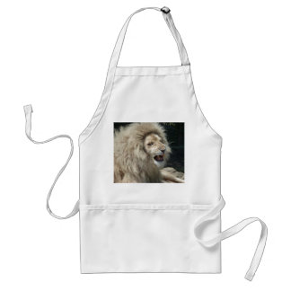 Snarling White Lion Adult Apron