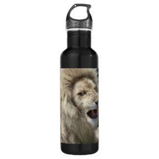 Snarling White Lion Water Bottle