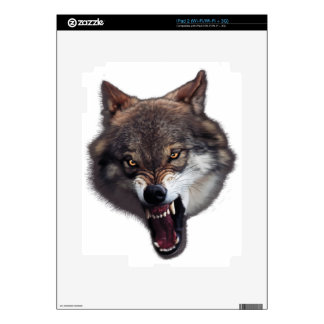 snarling wolf 1 skin for iPad 2