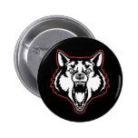 Snarling Wolf 2 Inch Round Button
