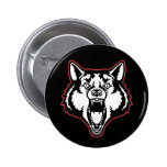 Snarling Wolf Button