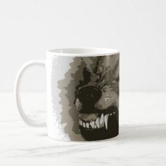 Snarling Wolf Classic White Coffee Mug