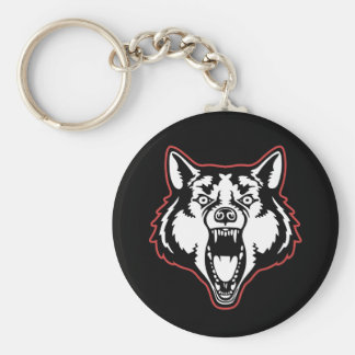 Snarling Wolf Keychain
