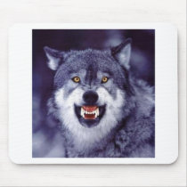 Snarling Wolf Mouse Pad