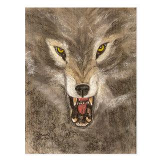 Snarling Wolf Postcard
