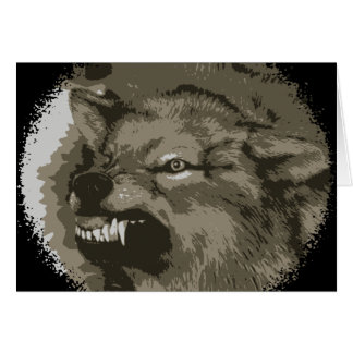 Snarling Wolf Stationery Note Card