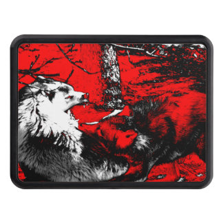 Snarling Wolf Wars Designer Tow Hitch Cover