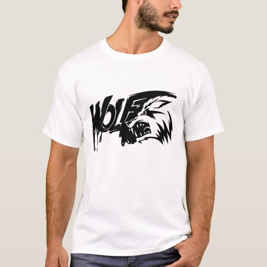 Snarling wolf with text T-Shirt