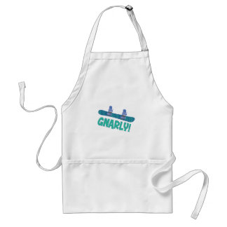 Snarly Snowboard Adult Apron