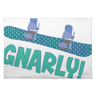 Snarly Snowboard Cloth Placemat