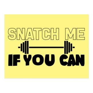 Snatch Me (weights) Postcard