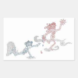 snatcher del sol del mono pegatina rectangular