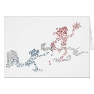 snatcher del sol del mono tarjeta de felicitación