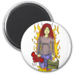 Snazzle Mummy 2 Inch Round Magnet