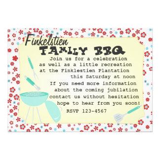 Snazzy BBQ Set Custom Invitations