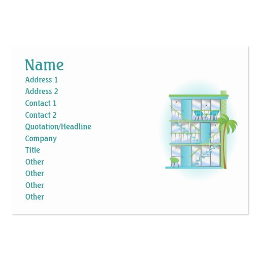 Snazzy Blue Sky Apartments! Business Cards