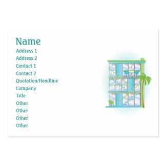 Snazzy Blue Sky Apartments! Large Business Card