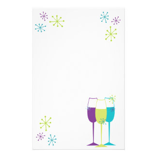 Snazzy Champagne Stationery