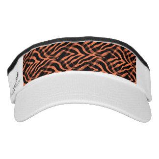 Snazzy Coral Zebra Stripes Print Visor