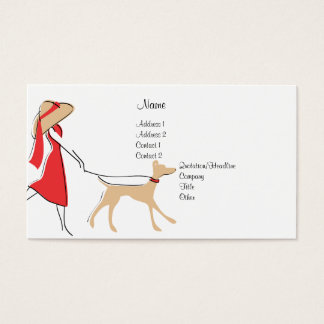 Snazzy Dog Walker Business Card