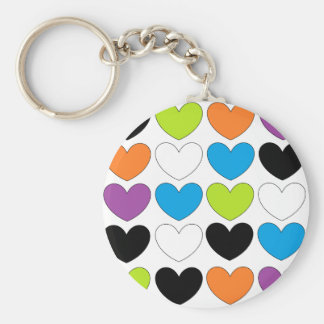 Snazzy Hearts Key Chain