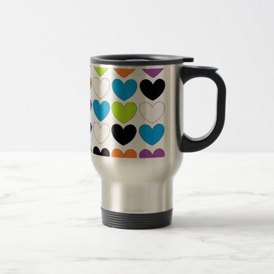 Snazzy Hearts Travel Mug