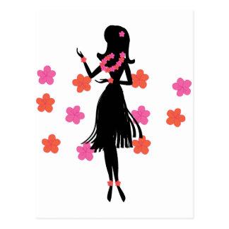 Snazzy Hula Dancer Postcard