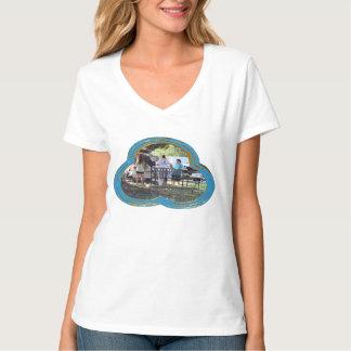 Snazzy Ladie's Vee Neck T-Shirt  Water Valley