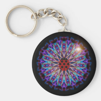 Snazzy Ladybug Kaleidoscope gift collection Basic Round Button Keychain