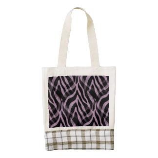 Snazzy Lavender Purple Zebra Stripes Print Zazzle HEART Tote Bag