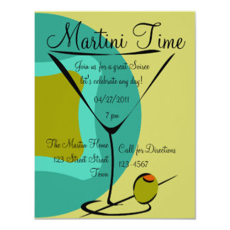 Snazzy Martini Time Card