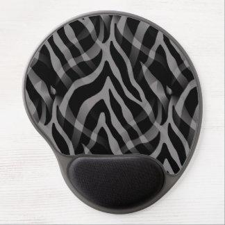Snazzy Neutral Gray Zebra Stripes Print Gel Mouse Pad
