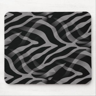 Snazzy Neutral Gray Zebra Stripes Print Mouse Pad