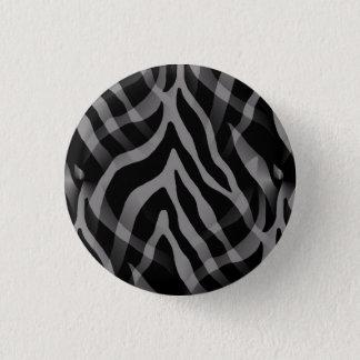 Snazzy Neutral Gray Zebra Stripes Print Pinback Button