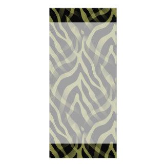 Snazzy Olive Green Zebra Stripes Print Rack Cards