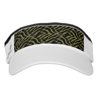 Snazzy Olive Green Zebra Stripes Print Visor