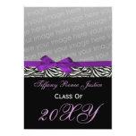 "snazzy purple Graduation photo Invitation 5"" X 7"" Invitation Card"