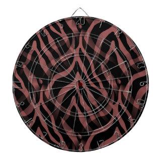 Snazzy Red Wine Zebra Stripes Print Dartboard