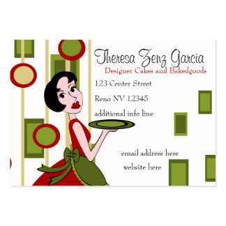 Snazzy Serving Business Card Template