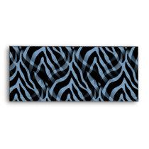 Snazzy Sky Blue Zebra Stripes Print Envelope
