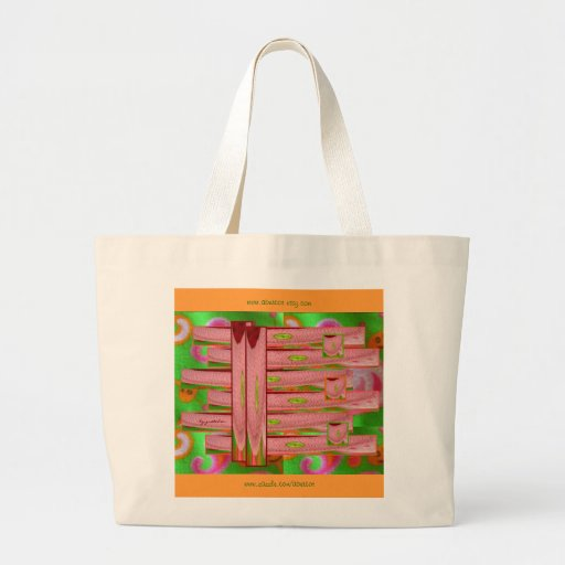 Snazzy Snail Bugs Collage Large Tote Bag