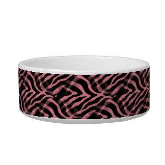 Snazzy Strawberry Pink Zebra Stripes Print Bowl