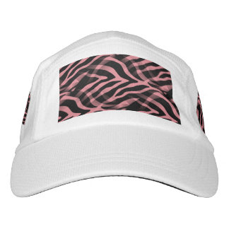 Snazzy Strawberry Pink Zebra Stripes Print Hat